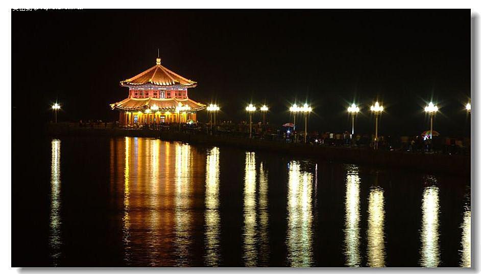 青岛栈桥夜景图片