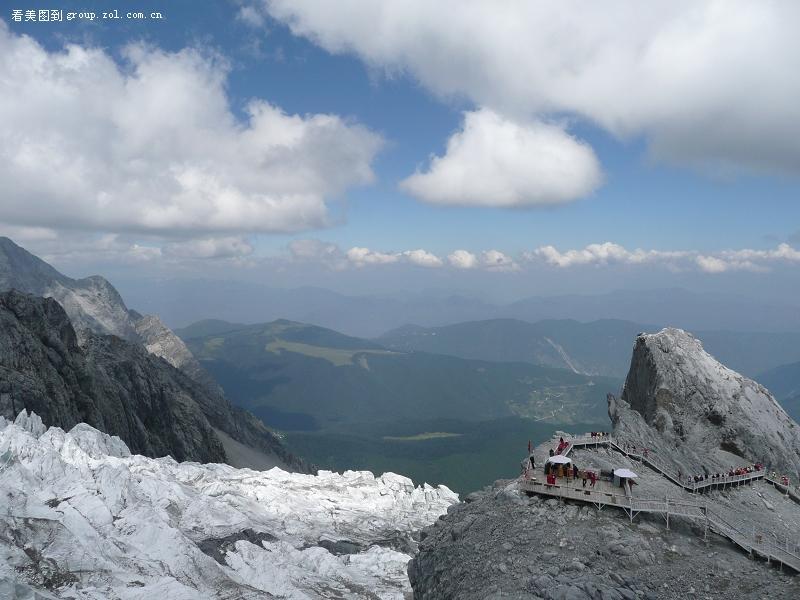动态雪山风景图片