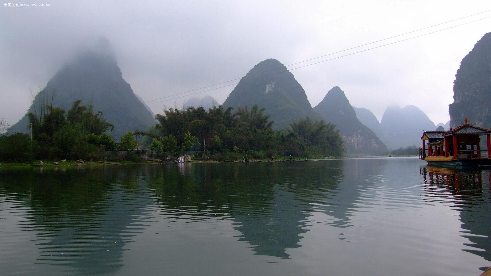 桂林漓江支流发现新的旅游景点荔江,正在开发对游人开放
