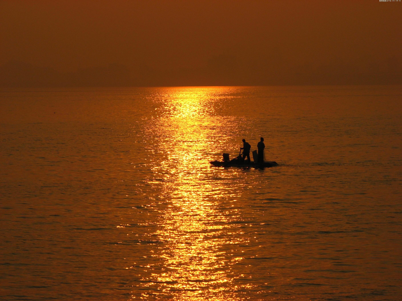 渔舟唱晚图