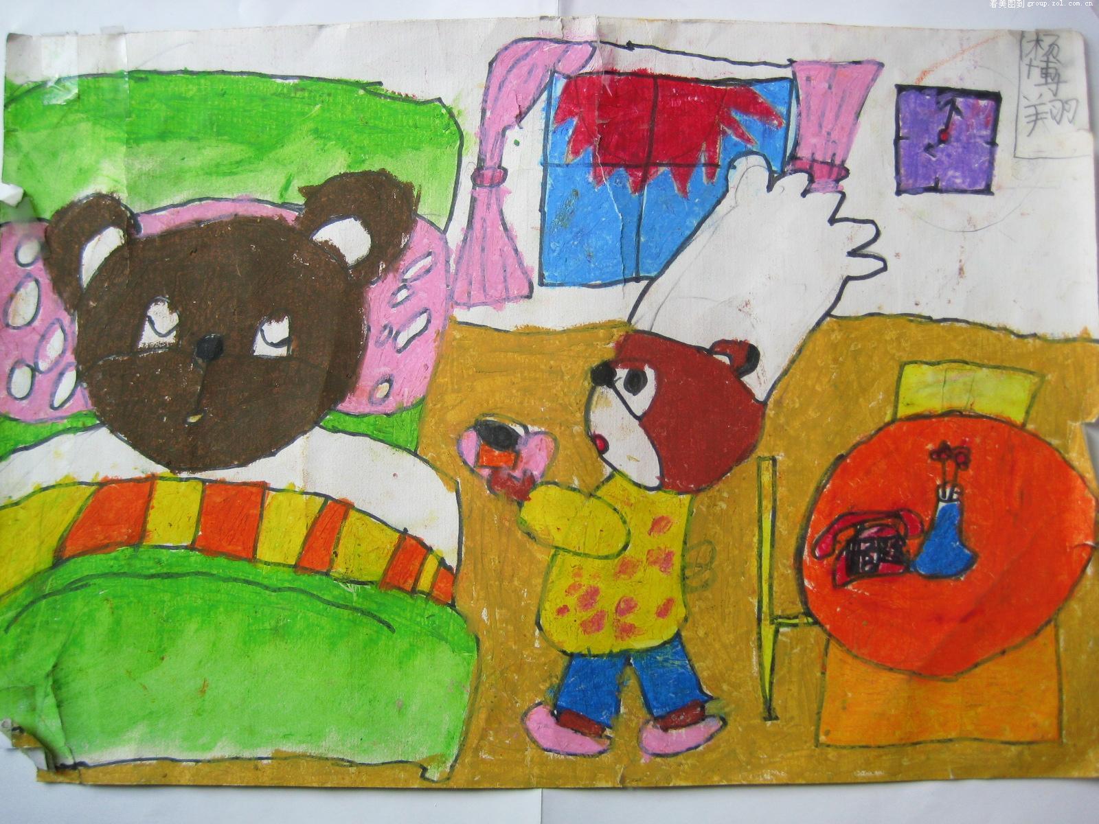 国庆节爱祖国的儿童绘画作品
