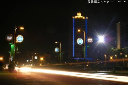 【广西梧州市夜景,桂平市西山风景