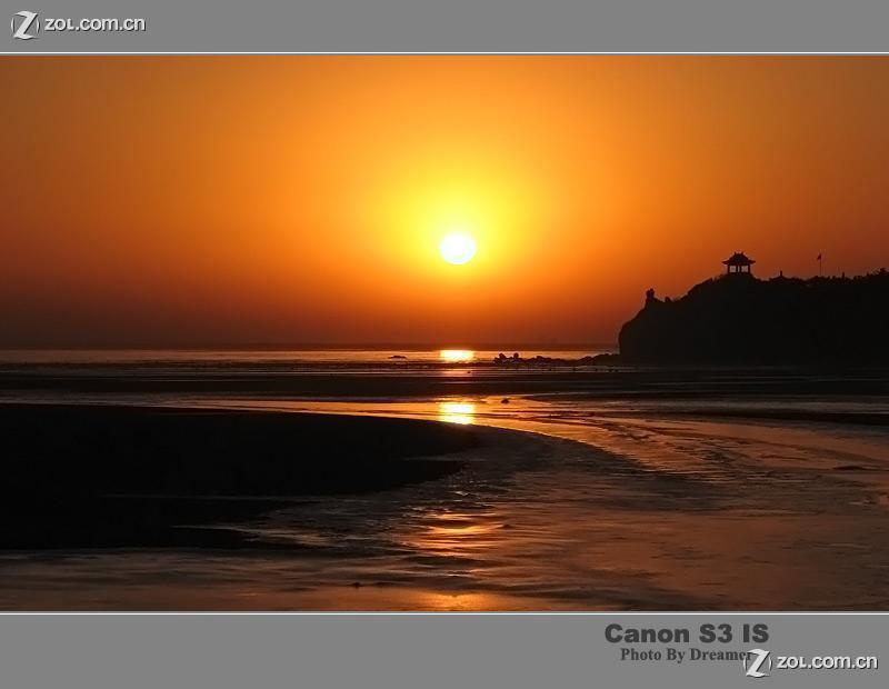 【北戴河 鸽子窝海域的日出】-自然风景论坛-zol中关村在线;