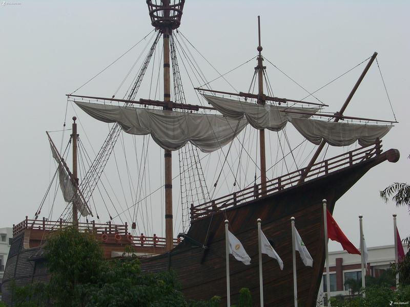 深圳华侨城 建筑 超牛的海盗船和蝴蝶结