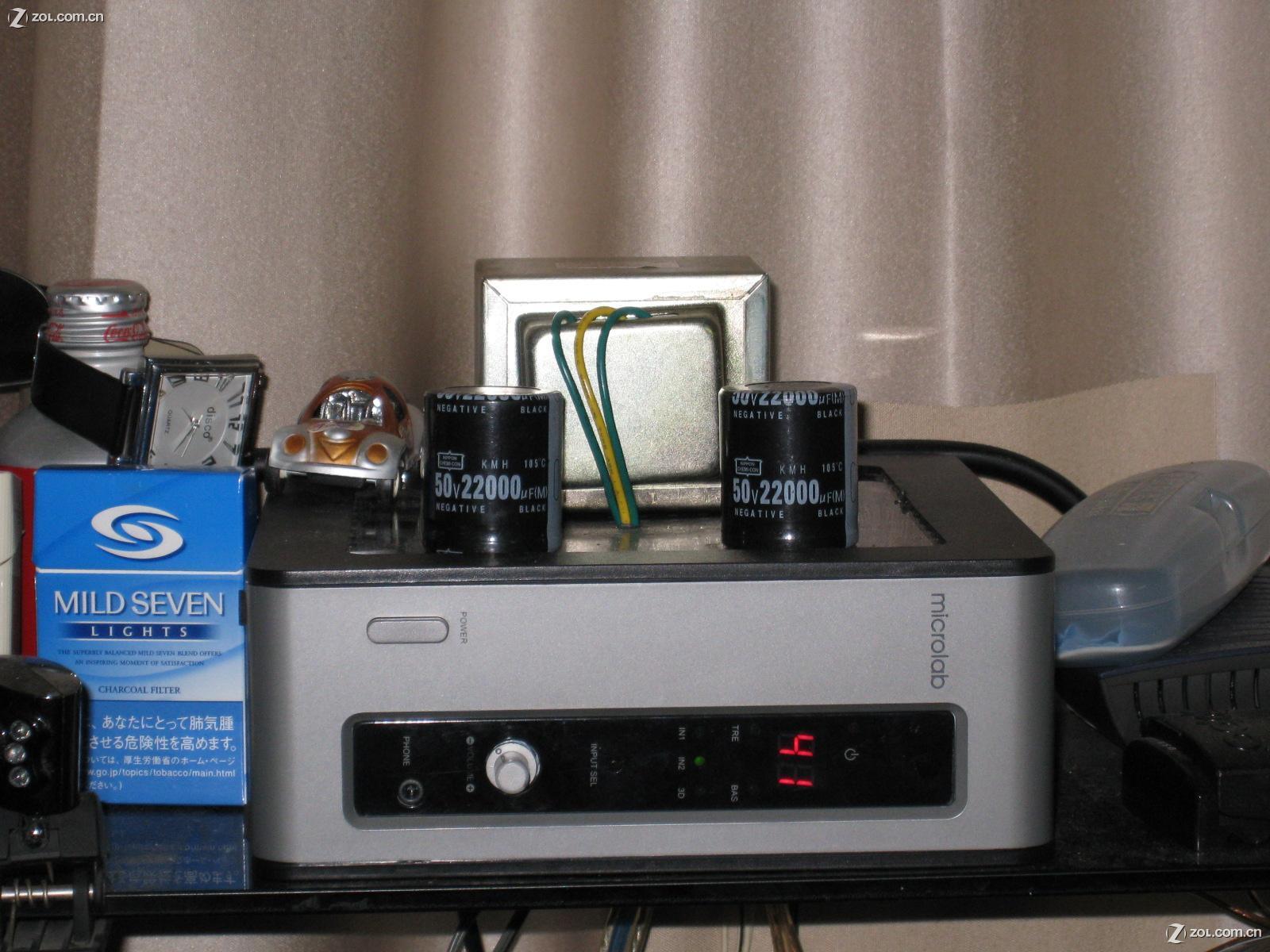 tda2030两根组成blt电路提供低音左右声道个一根前级