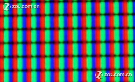 像素呈竖直的长方形整齐排列,每个像素中发光的部分为一条竖线.