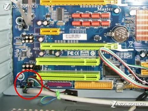 机箱前置面板接线图