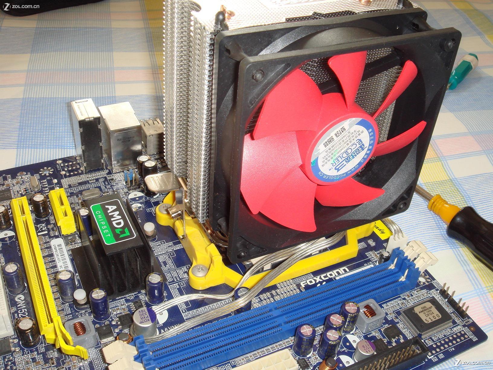 超频3风扇安装图解_超频三(pccooler)红海mini 多平台CPU散热器 (静音版) 散热器 ...