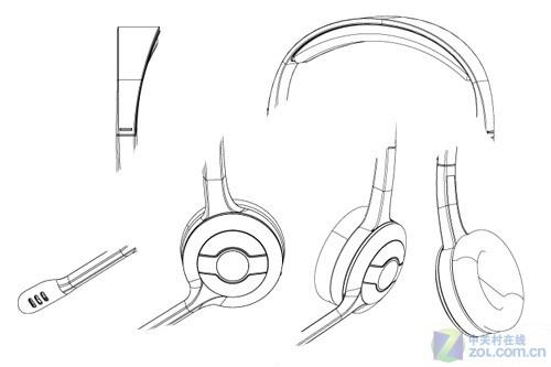 耳机简笔画素材