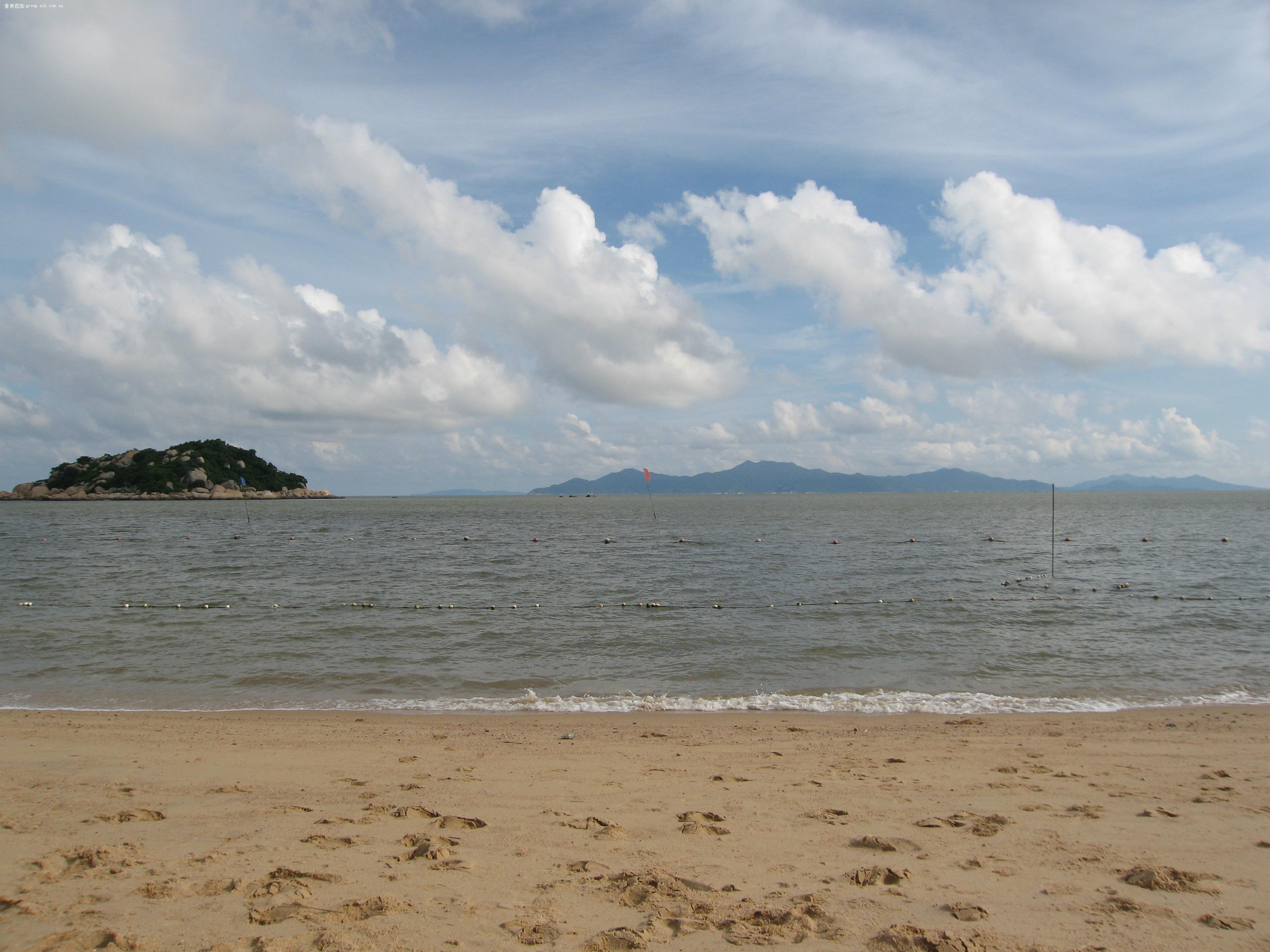 广东台山的宝船,小岛,海滩