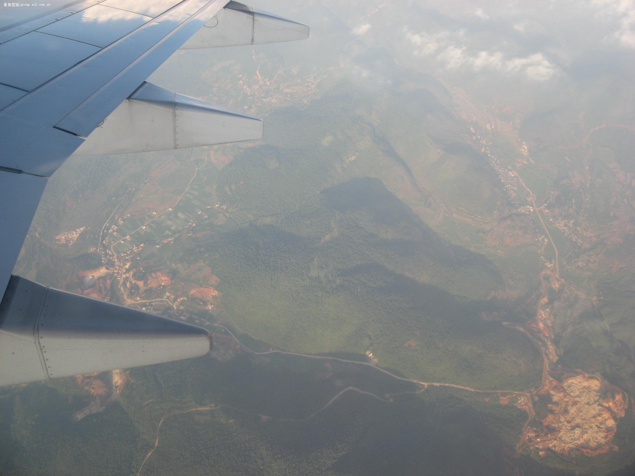 【从云南到郑州的飞机上拍的