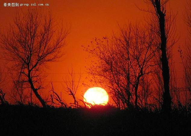 【太阳落山了,月亮升起了】佳能