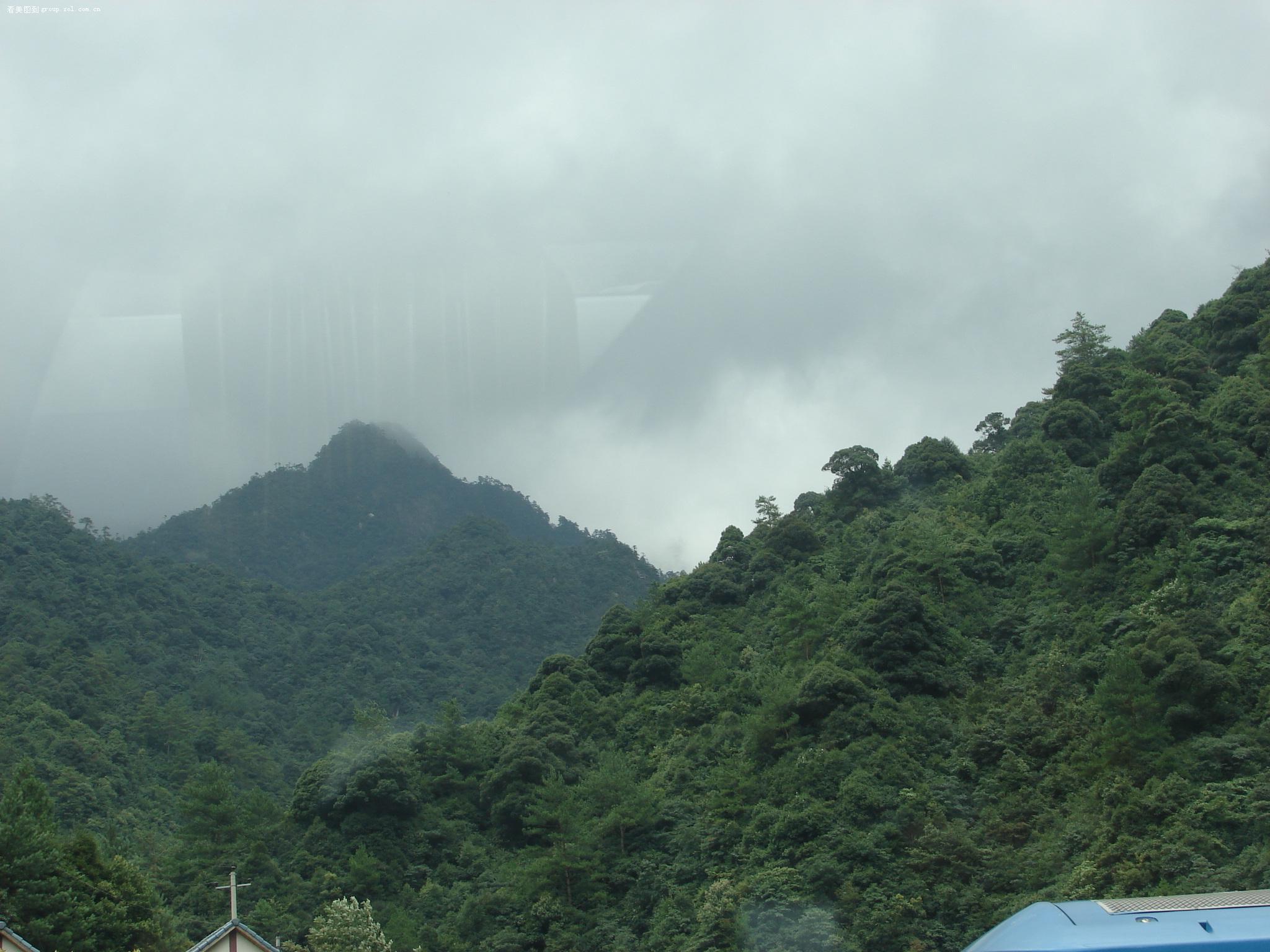 浙江的山重重叠叠