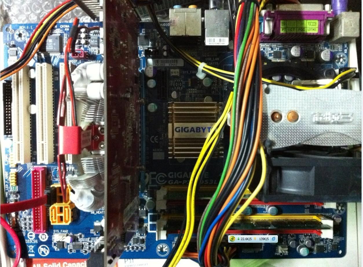 转e4500 和技嘉ga p31 ds3l全固态电容主板 2条金士顿 1g内存 八成新