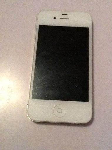 【二手苹果iPhone4S】苹果4s白色9成新-二手