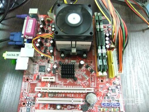 微星主板 k9n6pgm-f 带cpu 原装散热器